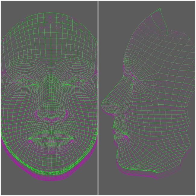face morph example
